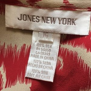 Jones New York Tops - Jones New York Silk Long Sleeved Career Blouse